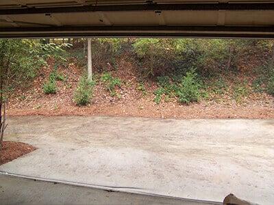 Clear visibility garage door screens