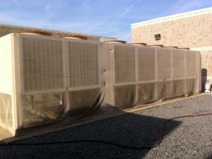 HVAC chiller screens