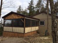 Outdoor enclosures for porch