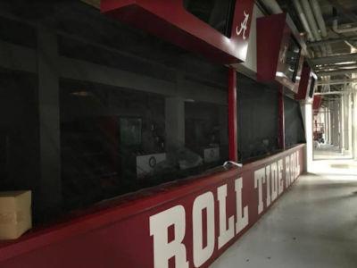 concession screens Alabama football stadium