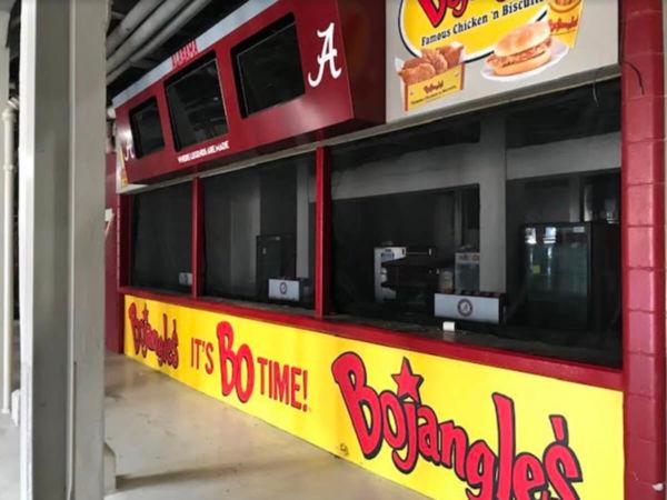 concession screening Alabama football stadium