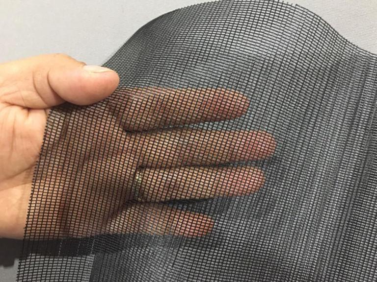 black mosquito netting mesh