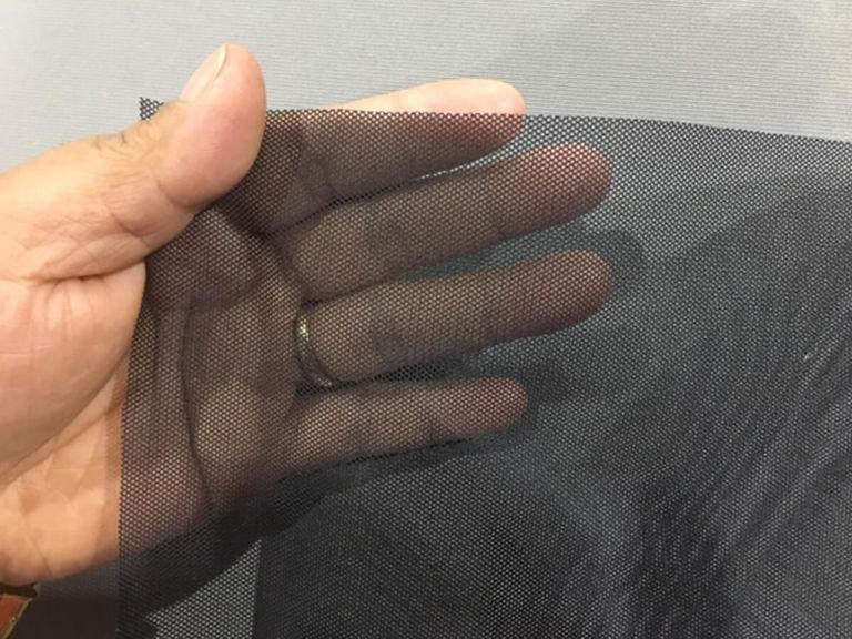 black noseeum mosquito netting mesh
