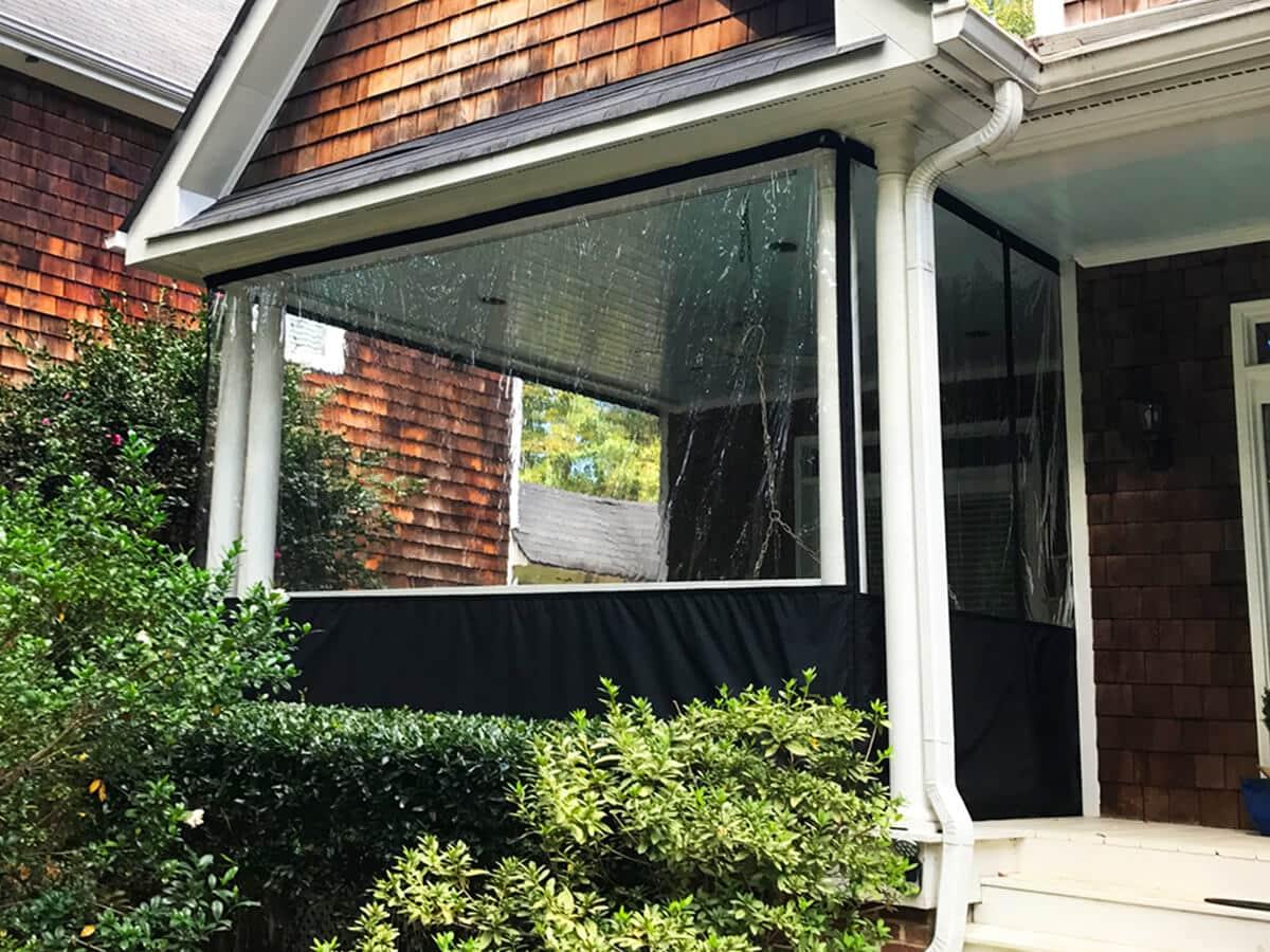 Clear Vinyl Enclosures to weatherproof patio