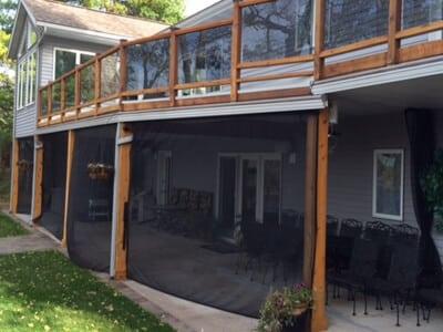 mosquito netting curtain patio enclosures