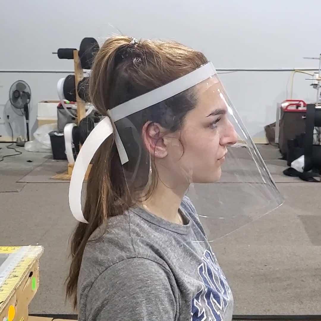 clear vinyl plastic face shield