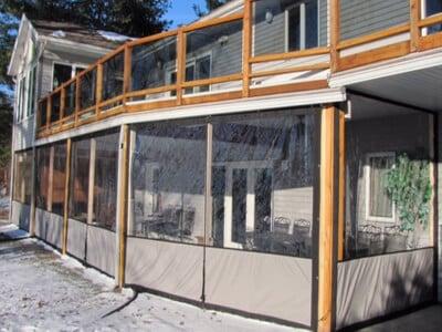 Clear Vinyl Plastic Porch Enclosures