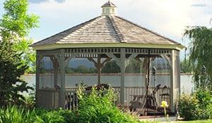 Screen porch enclosure for gazebo