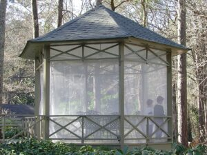 Gazebo insect curtains