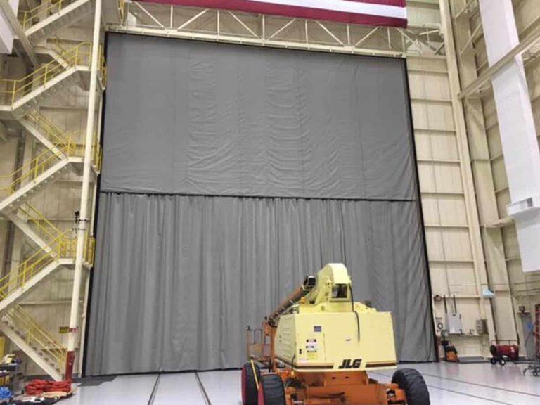Large commercial door screen