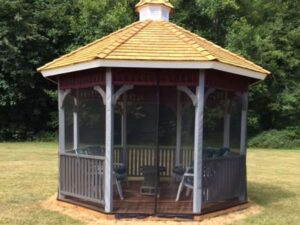 Mosquito Netting On Gazebo