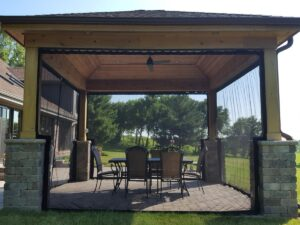 Gazebo enclosure screens