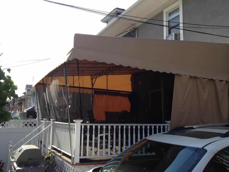 Insect curtains for awnings