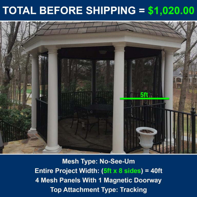 How to screen a gazebo and cost to screen gazebo
