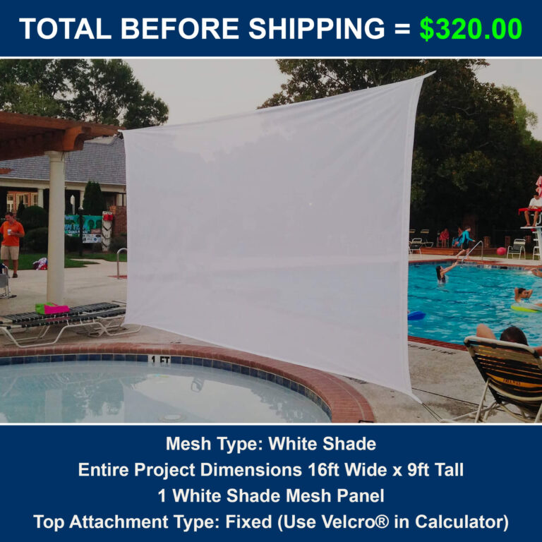 Cost for outdoor projection screen