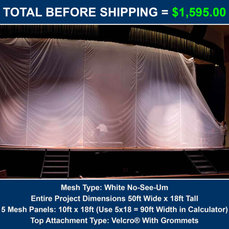 Cost for theater scrim